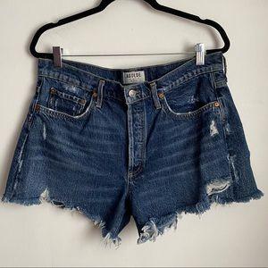 AGOLDE Parker Vintage Cut Off Distressed Shorts 31